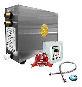 Sauna A Vapor Impercap Top Turbo Eletrica 12kw Digital Inox Bif 220v