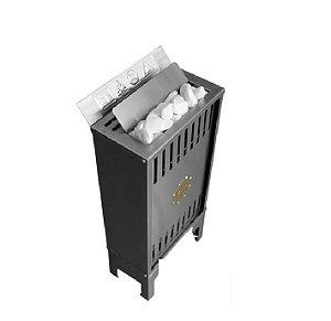 Sauna Seca Eletrica Impercap 6kw Finlandia Star Inox Trifasica 220v Digital