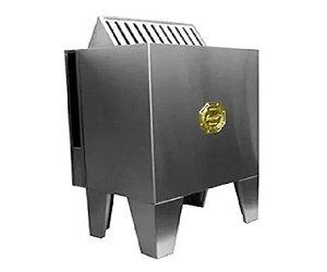 Sauna Seca Eletrica Impercap 9kw Finlandia Star Inox Trifasica 220v Digital