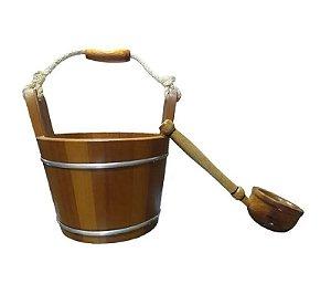 Balde e Concha Para Sauna Seca Impercap Acessório