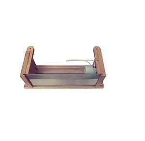 Luminaria De Madeira Com Visor De Vidro Para Sauna Seca Impercap