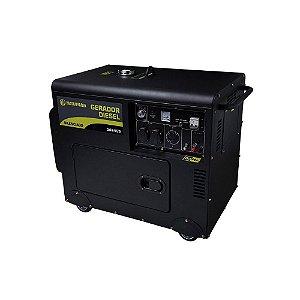 Gerador Matsuyama Diesel 6500 Partida Elétrica Silenciado Trifásico 380v