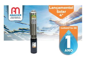 "Bomba Submersa Solar Anauger Giro 4"" Gs0305 500w 60v Solar"
