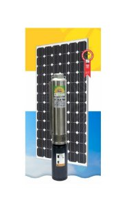 "Sistema Bombeamento Solar Anauger Bomba Submersa Giro 4"" Gs0207 500w 60v + 2 Painel"