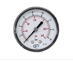 Manometro Seco Genebre 1/4 Bsp/ 0 A 16 Bar/ 0-240 Psi