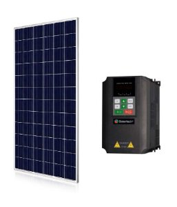 Kit Solartech Inversor Pk2200l para Bomba 1cv e 2cv Trifasico 220v + 8 Placas Solar 340w