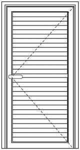Porta De Giro Com 1 Folha E Lambril De 100 mm