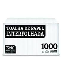 Papel Toalha  Indaial - Interfolha  - 2 Dobras Luxo (Com 1.000 Folhas)