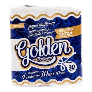 Papel Higiênico Golden - Folha Simples - Neutro