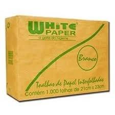 Papel Toalha  White Paper - Interfolha  - 2 Dobras Branco (Com 1.000 Folhas)