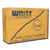 Papel Toalha  White Paper - Interfolha  - 2 Dobras Luxo (Com 1.000 Folhas)