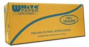 Papel Toalha  White Paper - Interfolha  - 2 Dobras 100% Celulose (Com 2.000 ou 4.800 Folhas)