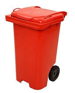 Container Quadrado Plástico com Rodas - JSN (Capacidade 120 e 240 litros)