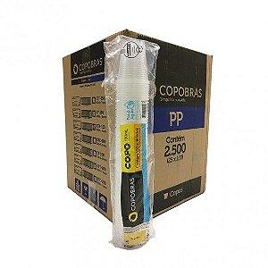 Copo Descartável transparente 180 ml - copobras (Com 2.500 unidades)