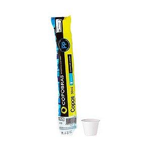 Copo Descartável Branco 50 ml - copobras (Com 100 unidades)