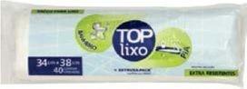 Saco de Lixo Top - Para Banheiro e Pias - Branco - Extrusa Pack (Com 40 unidades)