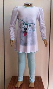 Pijama blusa e calça Dedeka
