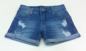 SHORTS JEANS DESTROYER BARRA VIRADA VIC&VICKY