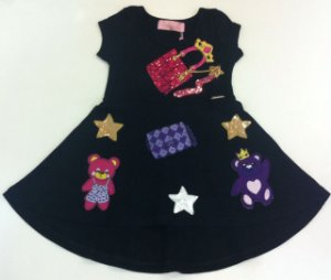 Vestido com patches Pituchinhus
