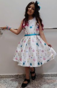 Vestido floral Petit Cherie