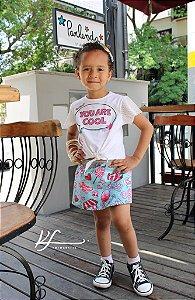 Conjunto com shorts-saia Momi