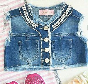 Colete Jeans Pituchinhus