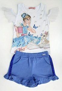 Conjunto shorts e Blusa Pituchinhus