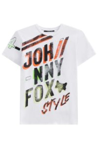Camiseta Branca Johnny Fox