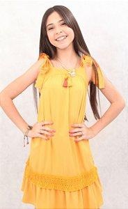 Vestido com Franja Camu Camu
