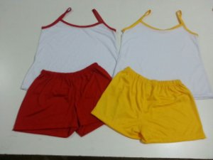 Pijama Adulto Curto Feminino ou Masculino Para Sublimação