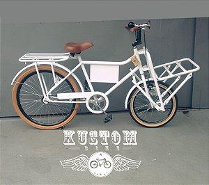 FoodBike Branca- Bicicleta Cargo Carga Aro 26 BikeFood