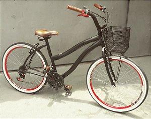 Bicicleta Feminina Retrô - Vintage Antiga - Aro 26