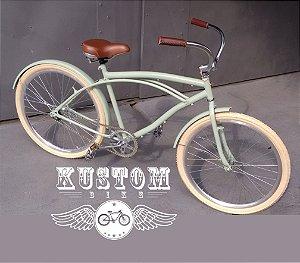 Bicicleta Beach Bike Caribe Cruiser - Rodas Aro Aero 26 Retrô Vintage Caiçara