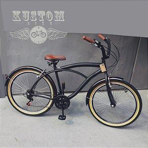 Bicicleta Beach Bike Cruiser - Rodas Especiais 72 Raios