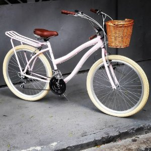 Bicicleta Feminina Retrô Rosê - Retrô Vintage Inspired Harley Antiga