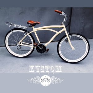 Bicicleta Beach Bike Bege - Retrô Vintage Classica Antiga Creme