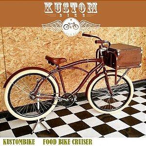 FoodBike Beach - Bicicleta Cargo Carga Aro 26 BikeFood Marrom