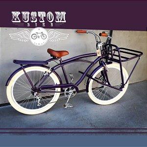 FoodBike Beach - Bicicleta Cargo Carga Aro 26 BikeFood Roxa