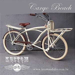 FoodBike Beach - Bicicleta Cargo Carga Aro 26 BikeFood Bege Kustom Bike