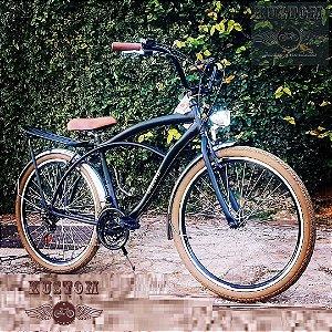 Bicicleta Retrô Vintage Aro 26 - Inspired Harley - Beach Bike Praiana Caiçara Cruiser