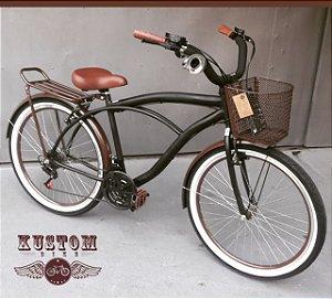 Bicicleta Beach Caiçara - Retrô Vintage Inspired Roda Aero