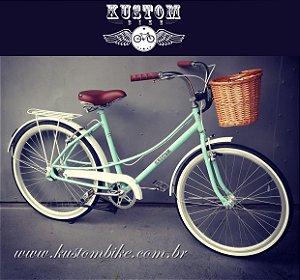 Bicicleta Feminina Retrô - Vintage - Aro 26 Cestinha Cesta
