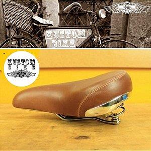 Selim Banco Marrom - Bicicleta Retrô Vintage Antiga Cruiser Ddk EX25