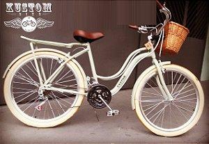 Bicicleta Retrô - Retrô Vintage Inspired Harley Feminina selim manopla marrom guidao cromado