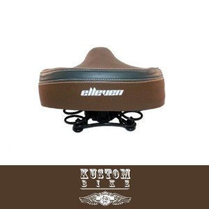 Selim Confort Ultra Banco Marrom - Bicicleta Retrô Vintage Antiga Cruiser Elleven