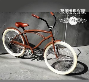 Bicicleta Beach Rodas Especiais 72 raios Bike Marrom - Retrô Vintage Inspired Harley