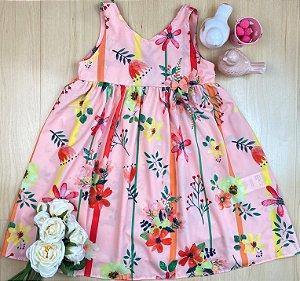 Vestido Infantil Menina Verão e Flores - Pokótinha