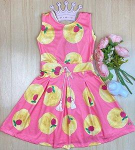Vestido Infantil Menina Chiclete - Pokótinha