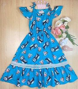Vestido Infantil Menina Corujas - Pokótinha
