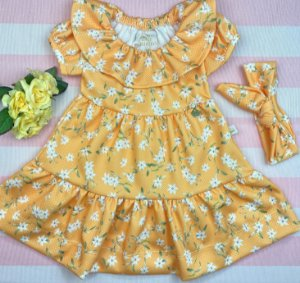 Vestido Infantil Menina Flor da Estação - Kiki Xodó